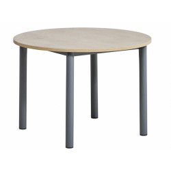 TABLE DE CUISINE RONDE EN STRATIFIE LUSTRA