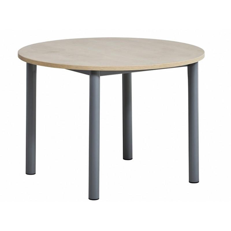 TABLE DE CUISINE RONDE EN STRATIFIE LUSTRA