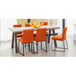 TABLE DE SALLE A MANGER EN STRATIFIE 75cm et 90cm QUEEN