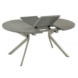 TABLE RONDE CERAMIQUE AVEC ALLONGE
