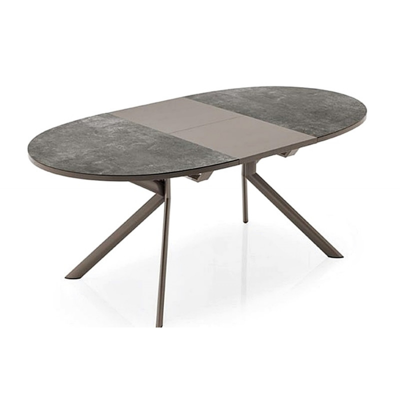 Table giove ronde ou ovale ceramique for Table ovale allonge
