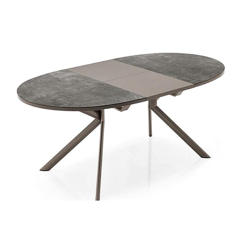 table ronde ou ovale ceramique. Black Bedroom Furniture Sets. Home Design Ideas