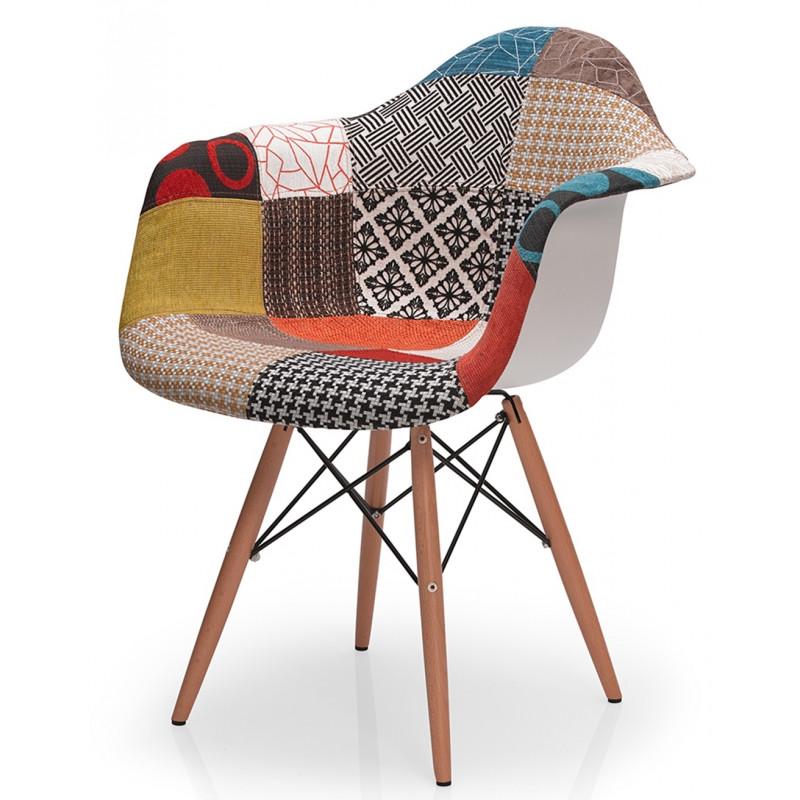 Fauteuil design patchwork for Mobilier design fauteuil