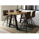 TABLE DESIGN EN VERRE HT90 QUADRA