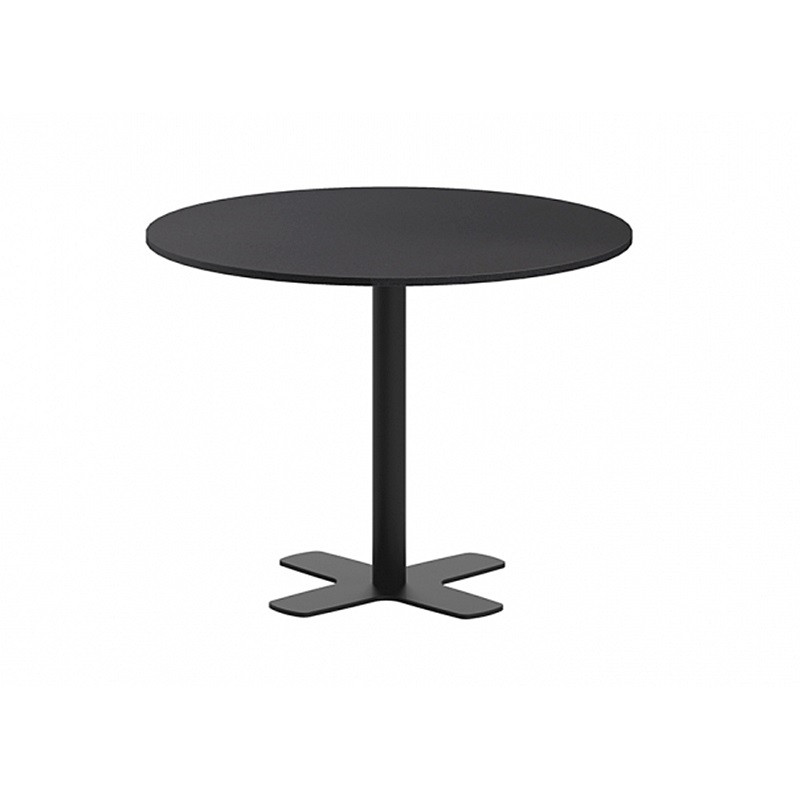 TABLE DE CUISINE RONDE STRATIFIÉE PIED CENTRAL HT90