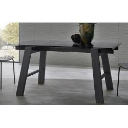 TABLE EXTENSIBLE EN VERRE HORNET