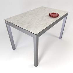 TABLE RECTANGULAIRE CERAMIQUE FIXE LEO