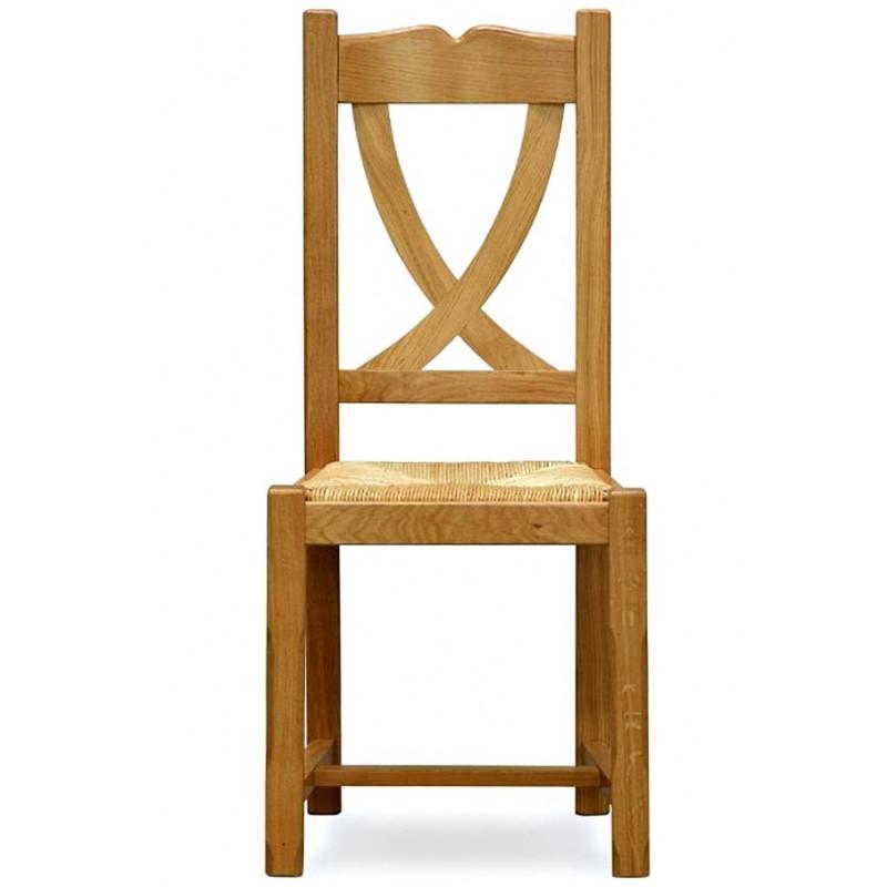 chaise rustique en chene honfleur - Chaise Rustique