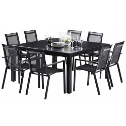 TABLE CARREE ECLIPSE ALLONGE