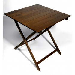 TABLE BOIS CARRÉ PLIANTE