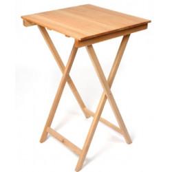 TABLE HT 90 OU 105 CM BOIS RONDE/CARRÉ