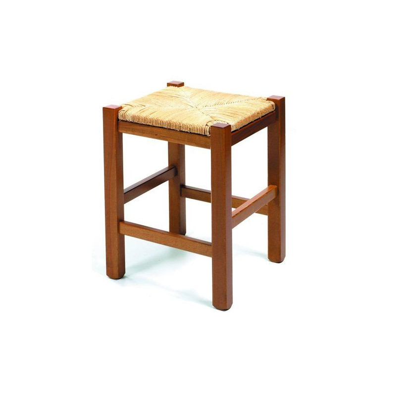 Tabouret de cuisine en bois 45cm rustica for Tabouret cuisine reglable hauteur