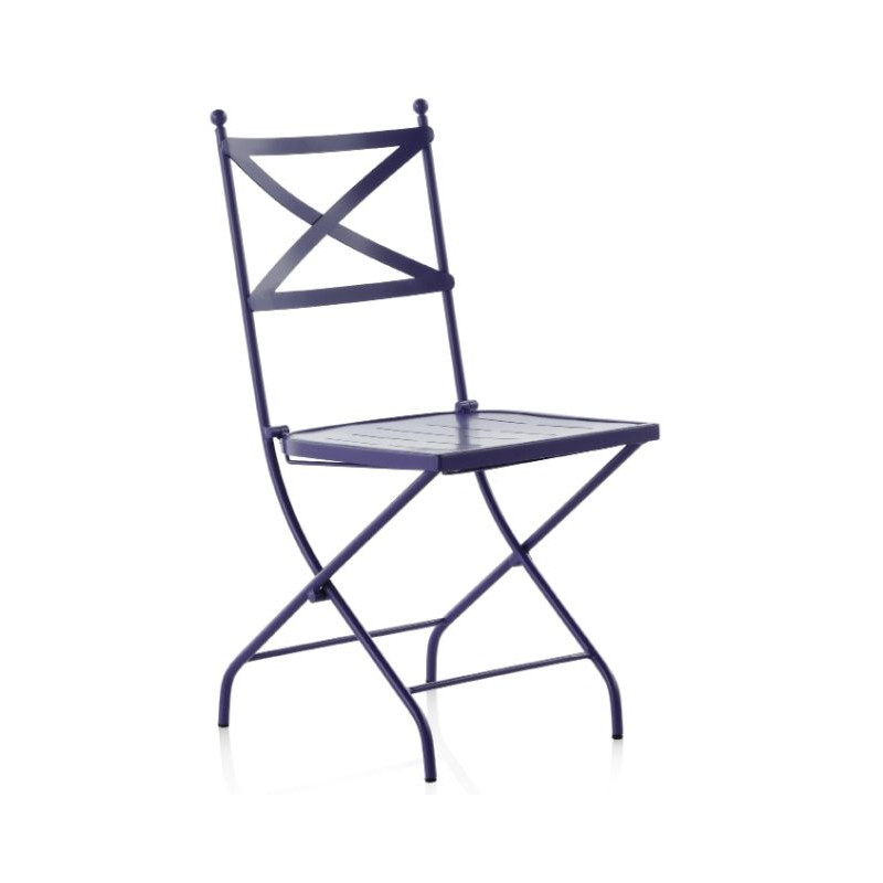 chaise pliante en m tal monaco s 194. Black Bedroom Furniture Sets. Home Design Ideas