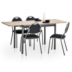 TABLE DE CUISINE EN STRATIFIE AVEC RALLONGES BASIC