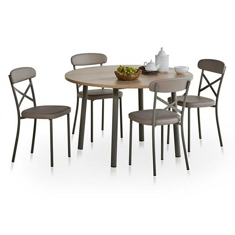 TABLE RONDE AVEC ALLONGE LUSTRA HT 75