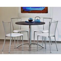 TABLE DE CUISINE RONDE PIED CENTRAL LASER