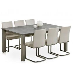 TABLE CARRE AVEC ALLONGE VARIO HT 75