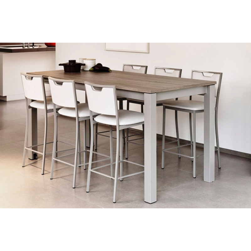 Table de salle manger 90cm stratifi e avec allonge valencia for Table de cuisine extensible