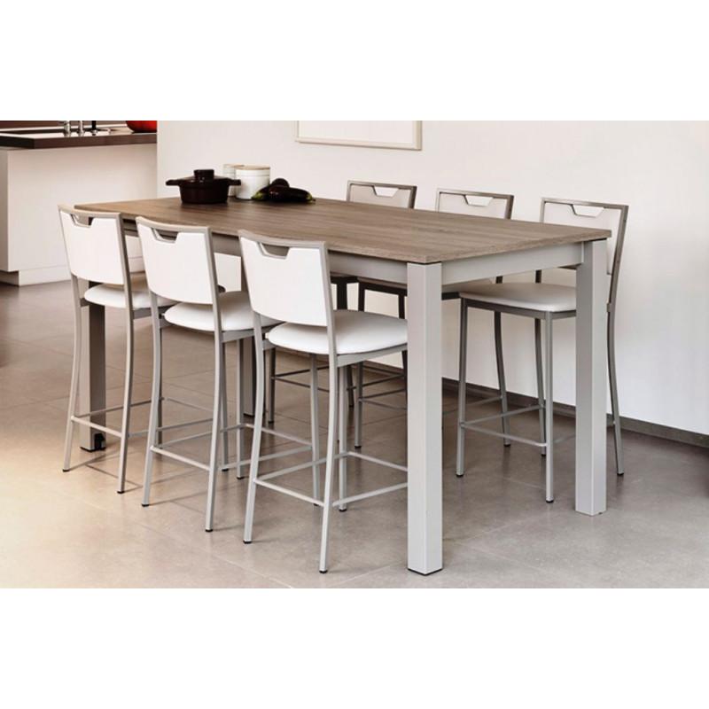 Table de salle manger 90cm stratifi e avec allonge valencia - Table a rallonge pour 16 personnes ...
