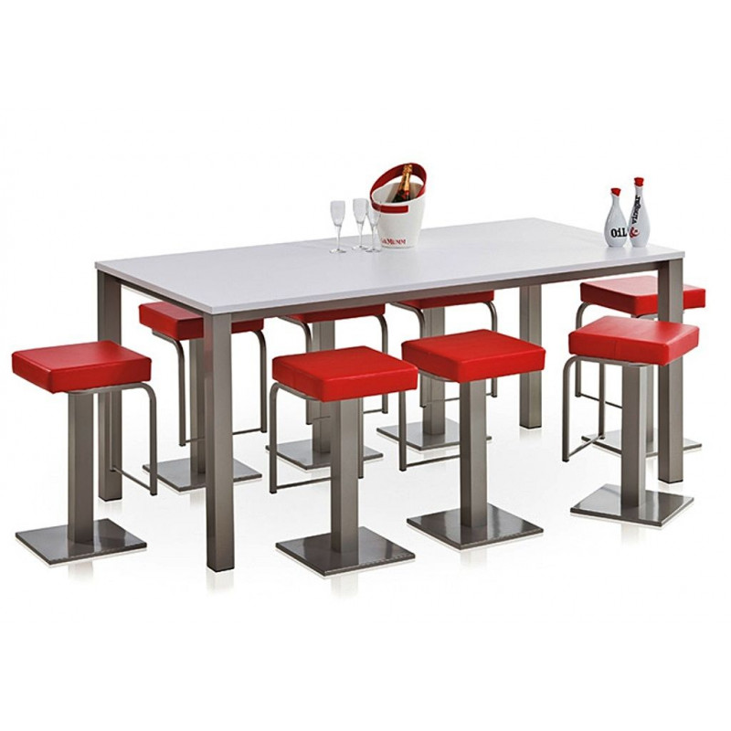 Table hauteur 90 cm rectangulaire - Table haute 8 personnes ...