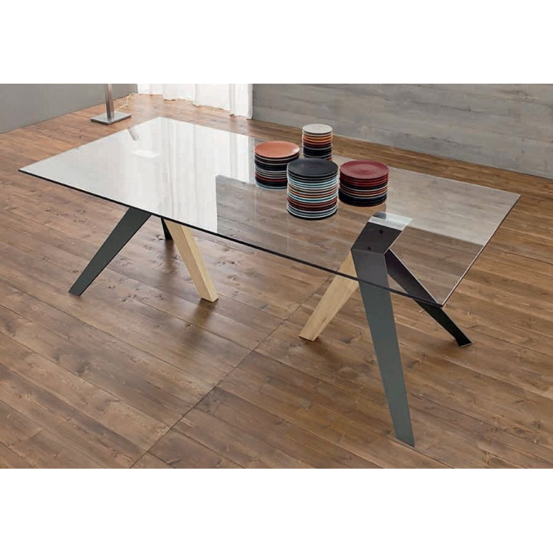 TABLE IFLY VERRE RECTANGULAIRE