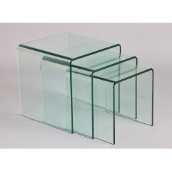 TABLES GIGOGNES VERRE