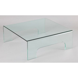 TABLE BASSE CARRE EN VERRE
