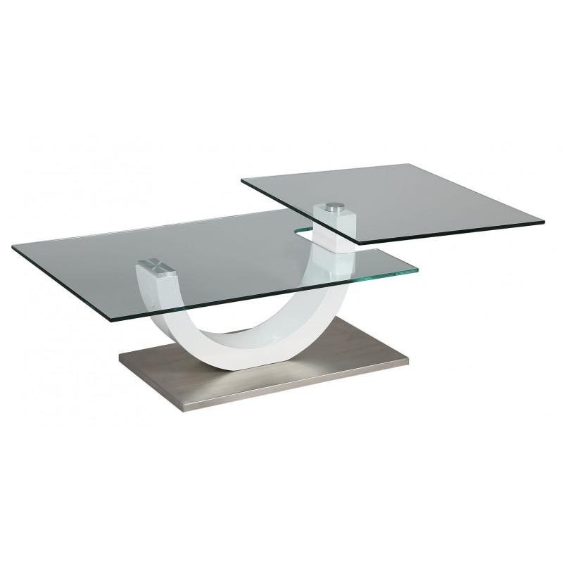 TABLE BASSE PLATEAUX PIVOTANT