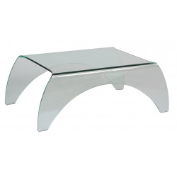 TABLE BASSE VERRE COURBE