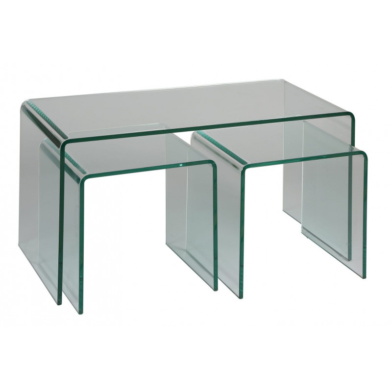 LOT DE 3 TABLES BASSES