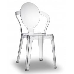 Chaise en plexiglas empilable Spoon