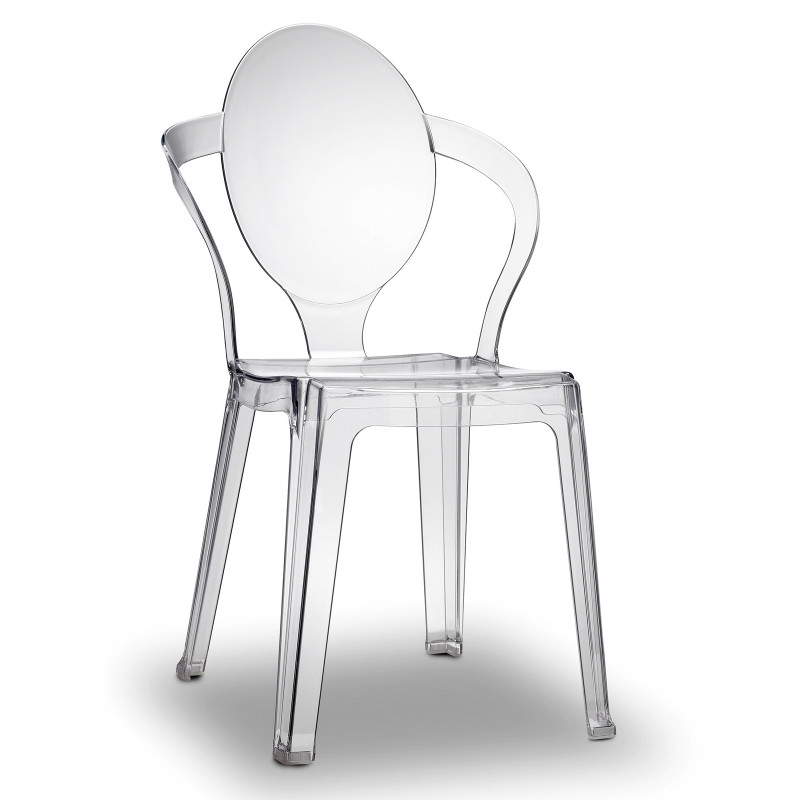 Chaise en plexiglas empilable Spoon